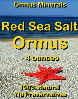 Ormus Minerals -Red Sea Salt Ormus